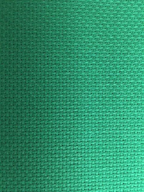 Tela Aida 72 quadretti  Permin of Copenhagen - Colore Verde Natale