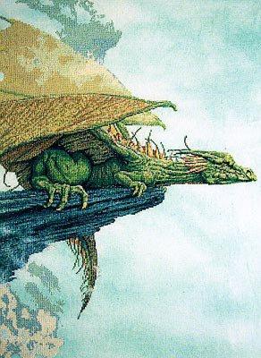 Schema Punto Croce Drago - Character Creations