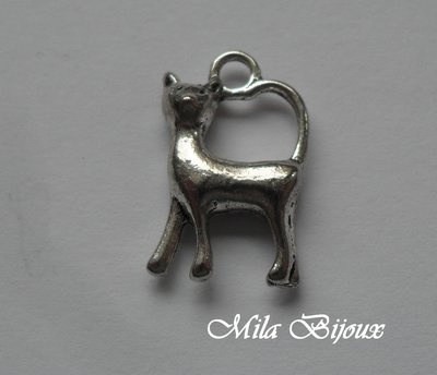 Charm Gatto 18x10 mm