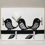 quadro Uccellini portafoto e porta appunti