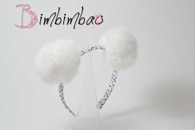 cerchietto cerchiello corona coroncina  occasione elegante doppio pon pon bianco headband hairband pelliccia