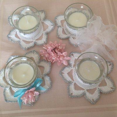 Porta candela uncinetto feste bomboniere di pinette for Porta candela