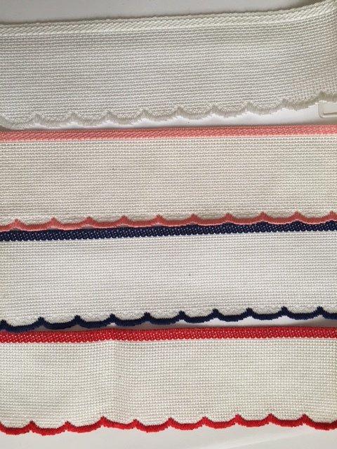 Bordino Smerlo Colorato h. 5 cm