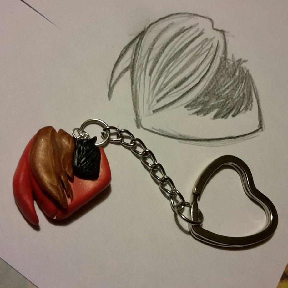 L'Abbraccio - Portachiavi a forma di cuore personalizzato