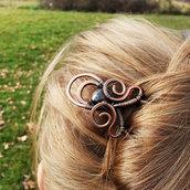 Accessori per capelli, forcina chignon, fermaglio per capelli, capelli lunghi, forcella capelli, forcina in rame
