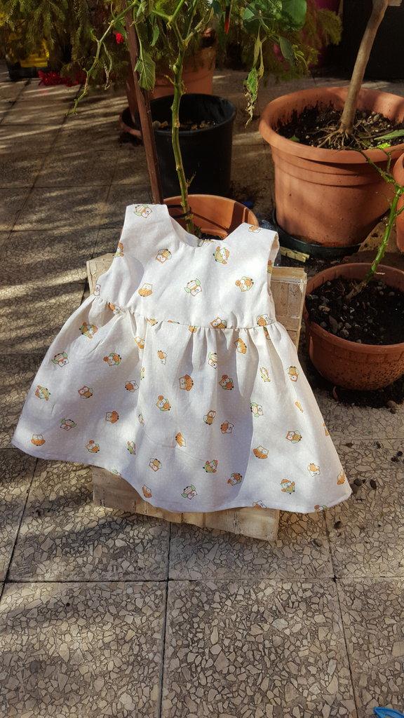 vestito smanicato  per bambina