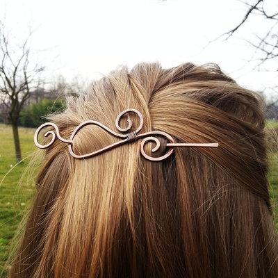 Accessori per capelli spilla per capelli a spirale spilla in rame fermaglio capelli fermasciarpe accessorio sciarpa