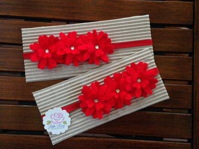 Fascia elastica a tre fiori by Little Rose Handmade