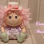 Giuditta - Bambola profumosa in pasta di mais e stoffa