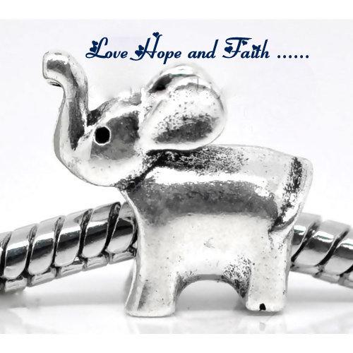 """Perla a foro largo """"Elefante"""" (14x13mm) (cod.09448)"""