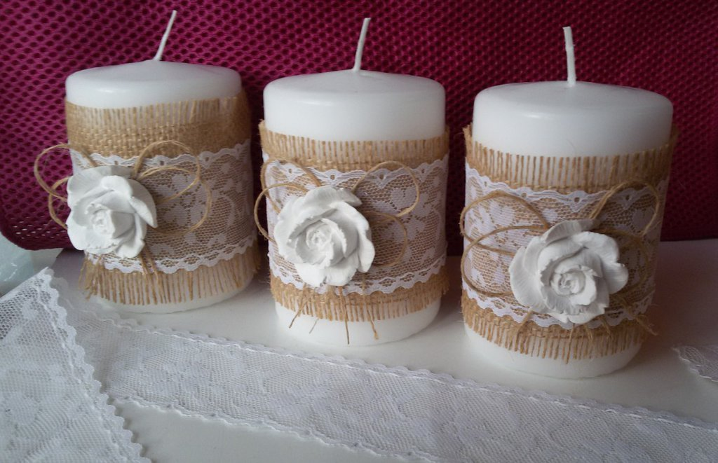candele decorative shabby