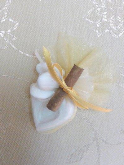 Gessetto cuore segnaposto o bomboniera per prima comunione