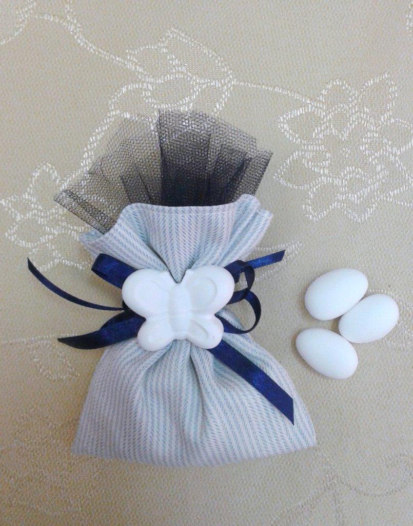 Bomboniera matrimonio sacchetto con gessetto