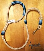Guinzaglio in corda con dettagli colorati