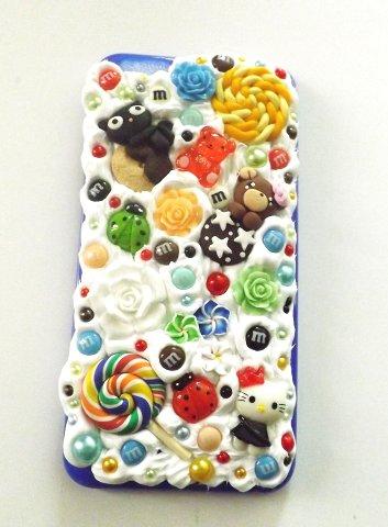 Cover per cellulare iphone 6 plus realizzata a mano con fimo,cernit,resina,perle,idea regalo