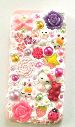 Cover realizzata a mano per iphone 6 plus con base morbida,fimo,cernit,premo,idea regalo