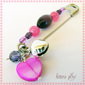 """""""Campanilla Rosa & Viola"""" - accessorio spilla"""