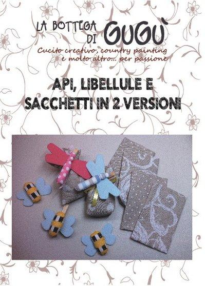 DIY - Cartamodello con spiegazioni per realizzare api, libellule e sacchetti di stoffa in 2 versioni (formato PDF)