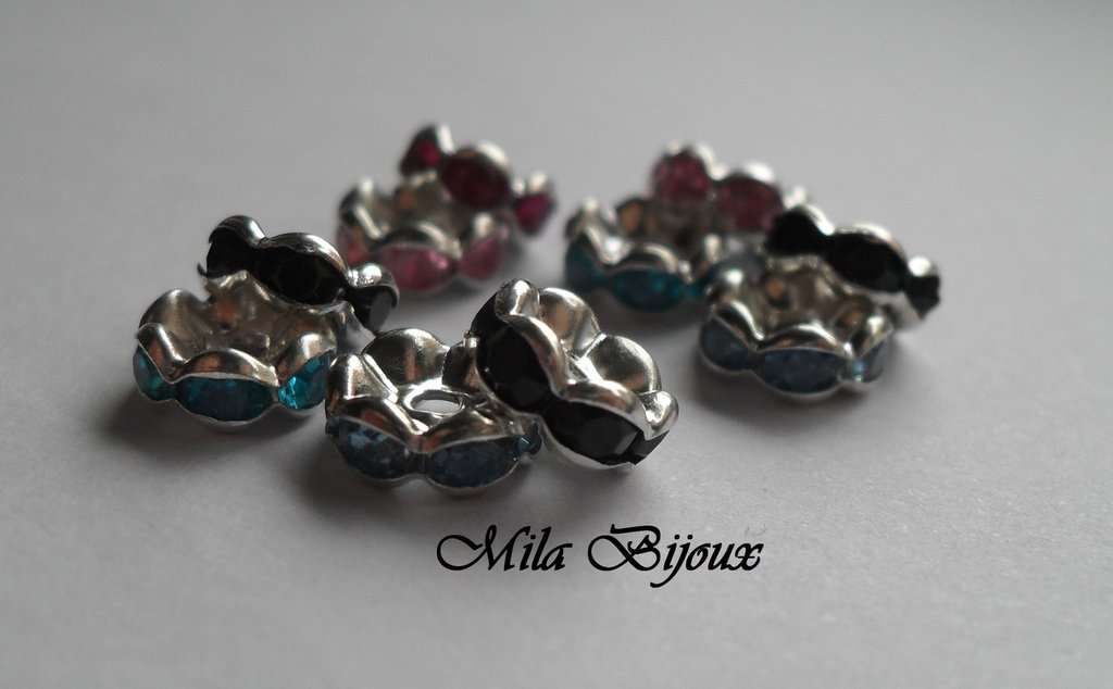Rondelle strass colorate 8 mm 10pz