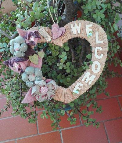 cuore in legno primavera