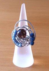 Anelli wire con pietre e perline