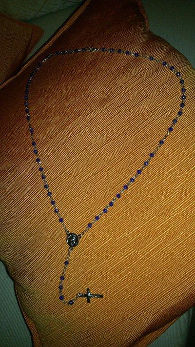 Coroncina rosario con pietre tipo swarosky