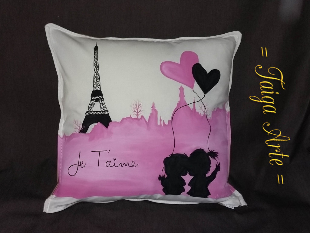 Cuscino je t'aime parigi
