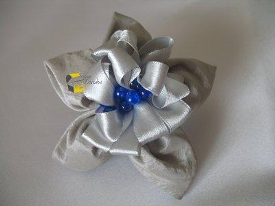 Elastico Fermaglio per capelli Grigio perla e Blu