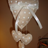 cuore shabby chic a pois