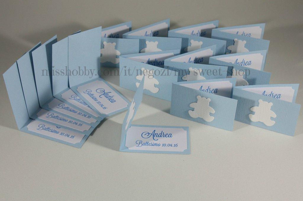 Amato Set di 15 biglietti bigliettini con orsetto per confetti  AY73