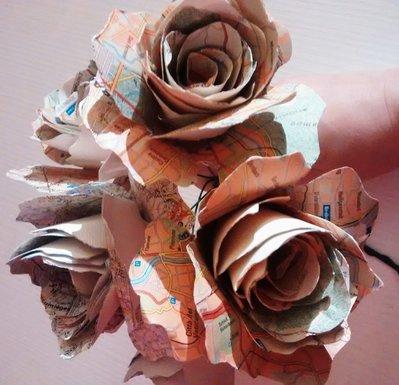 ORDINE PERSONALIZZATO Bouquet di rose, rose di carta, paper bouquet