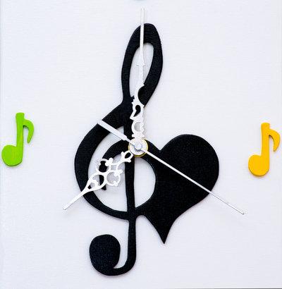 orologio da parete musica