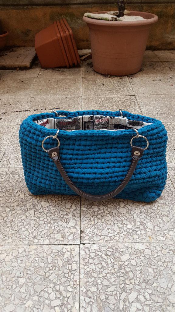 handbag in tulle leggeto
