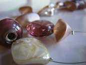 collana rosa antico vetro madrepela