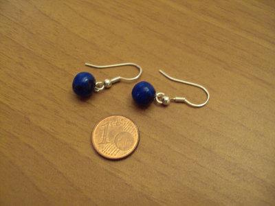 Orecchini palline blu-nero