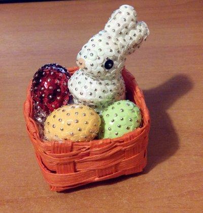 Cestino pasquale con coniglietto - decorato