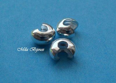 copri schiaccino argentato 5mm 5pz