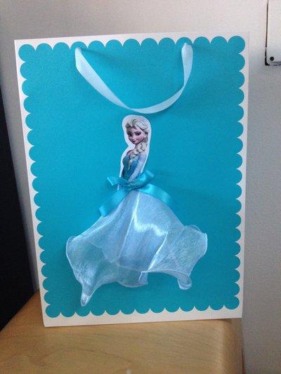 Bag carta decorata Frozen