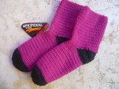 calzini ad uncinetto caldi e colorati
