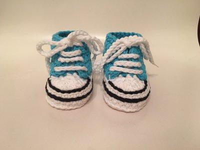 Scarpine neonato in cotone stile converse