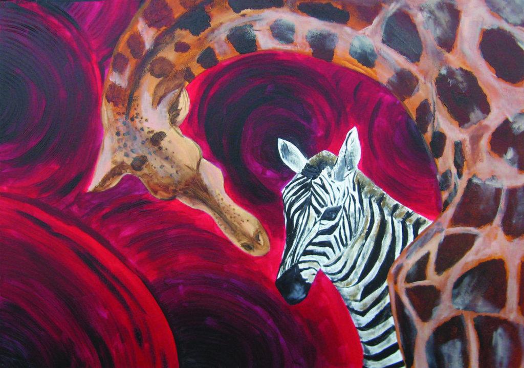 Giraffa e zebra