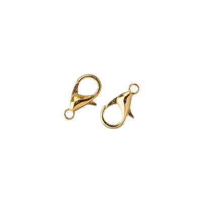 Chiusura moschettone color oro 20 pz