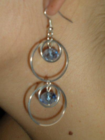 Orecchini anelli concentrici