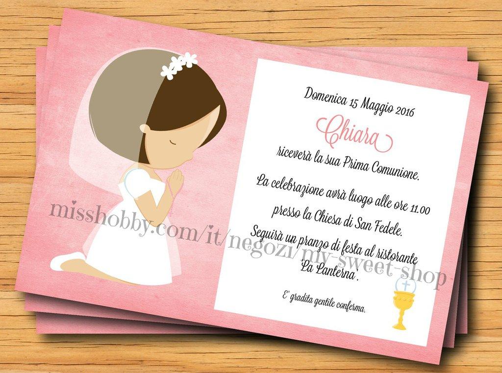 Ben noto Invito Prima Comunione per bambina - Feste - Biglietti e inviti  QY74