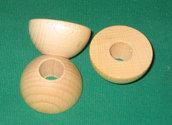 Semisfere in legno diametro 4 cm