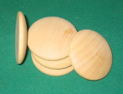 Medaglione in legno smussato da 5 cm di diametro