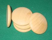 Medaglione in legno smussato da 4 cm di diametro