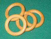 Anello di legno lucidato diametro 56 mm