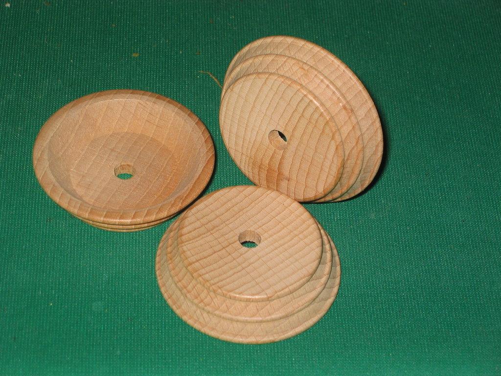 Base legno a botte conica diametro 65 mm
