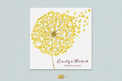 Guest book alternativo stampato su tela 70x70cm. Esprimi un desiderio. Libro per ospiti matrimonio in oro. 50-300 ospiti. Guestbook alternativo